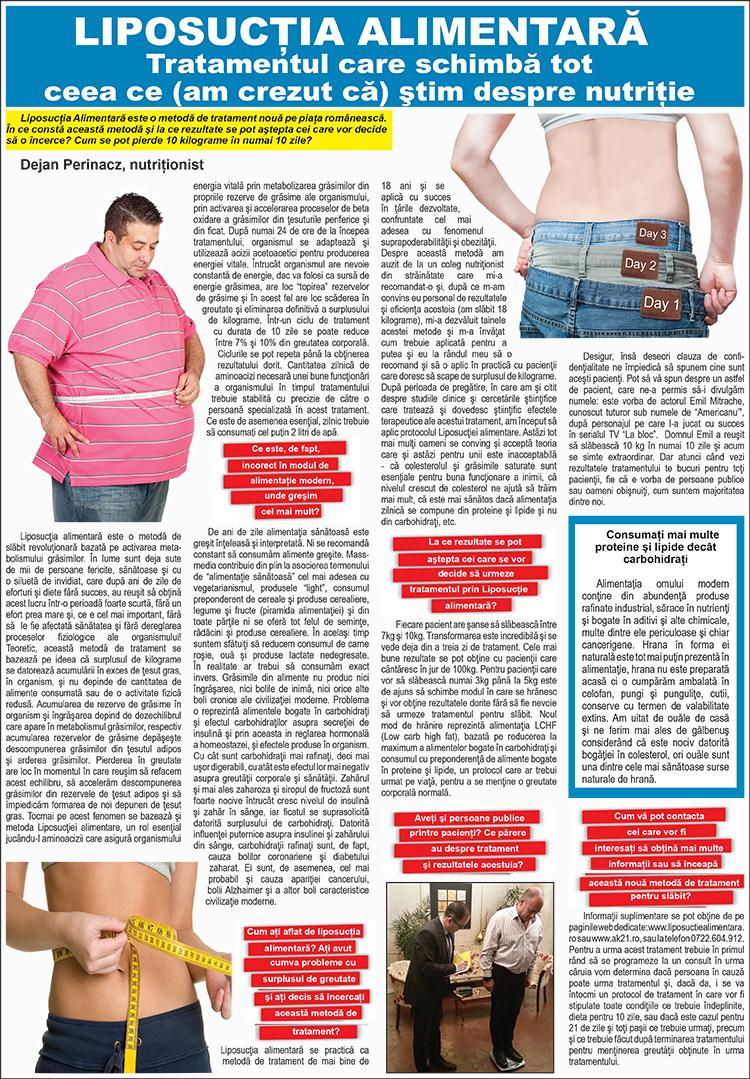regim de slabit liposuctie alimentara